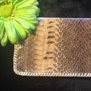 Handbags - 💲SNAKESKIN WALLET & CHECKBOOK!